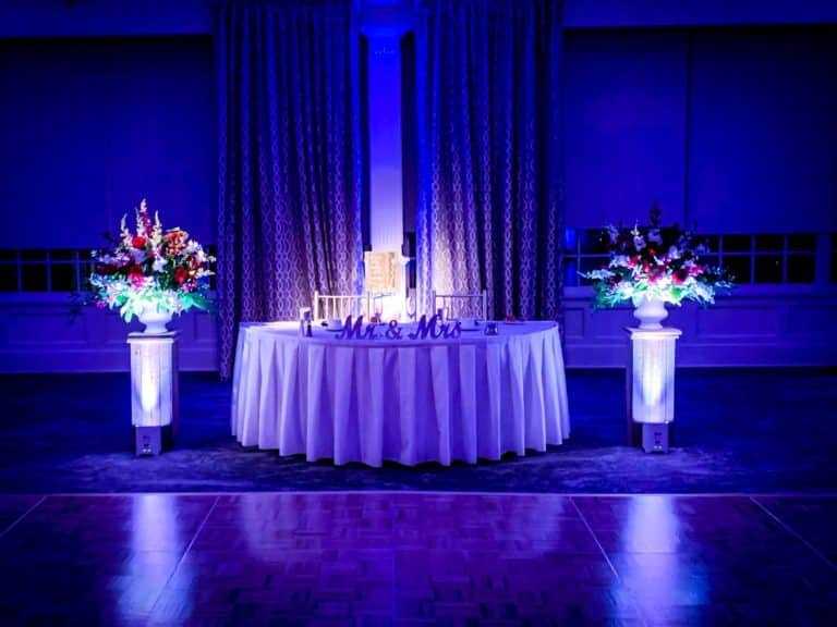 Lighting the Sweet Heart Table